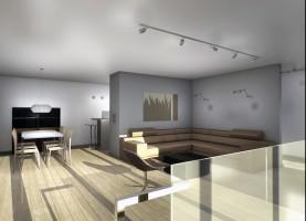 Apartament w Warszawie - salon.