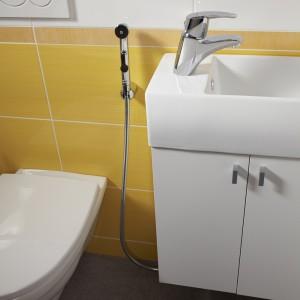 Bateria umywalkowo-bidetowa Metalia 56 z rączką natrysku, Ferro.