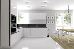 Jasne, przestronne mieszkanie będące własnością 4-osobowej rodziny. Urządzone w nowoczesnym stylu. We wszystkich wnętrzach możemy dostrzec ciekawe połączenie betonu z drewnem.