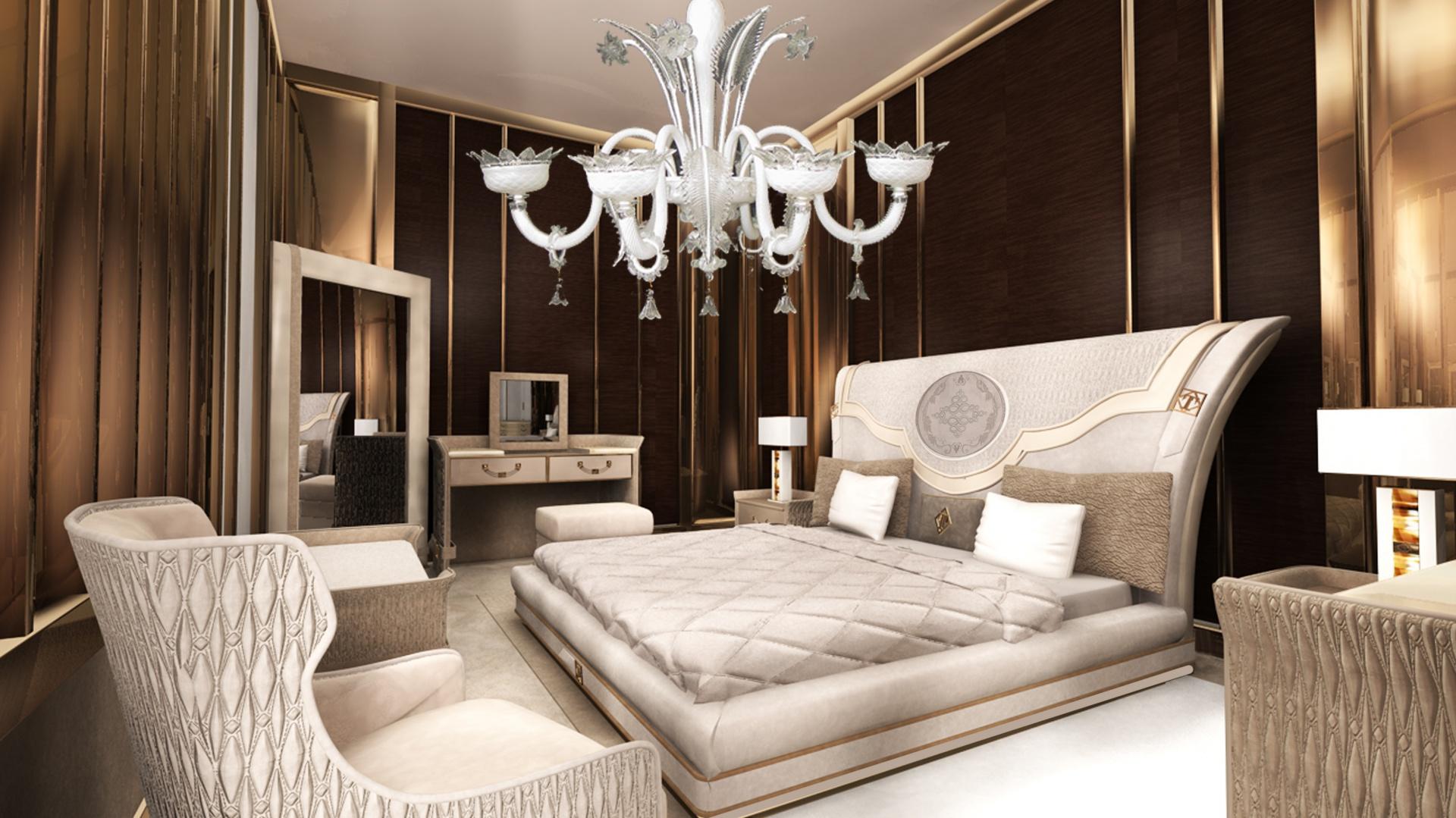 Sypialnia W Stylu Glamour Piękne łóżka W Jasnych Kolorach