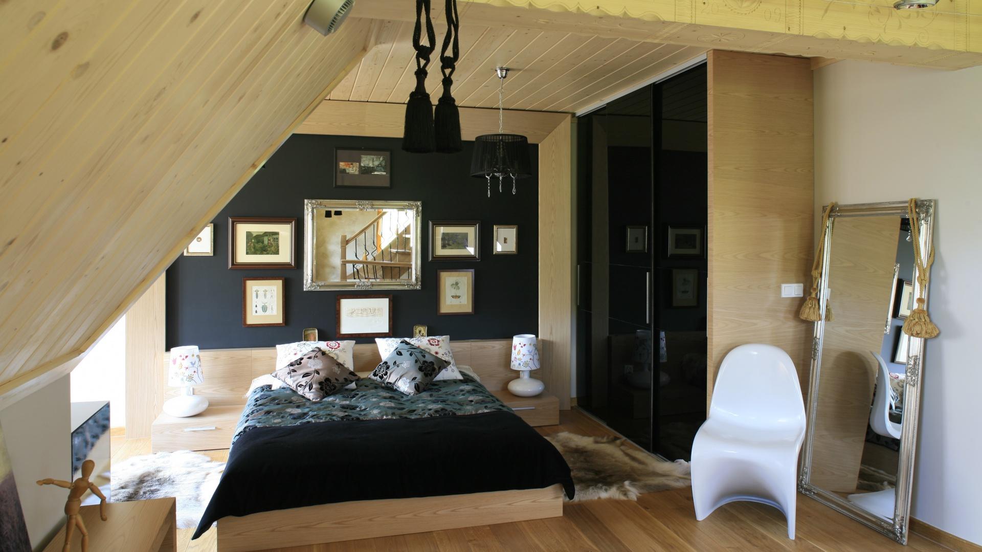 Drewno Nietypowy Pomysł Na ścianę W Sypialni