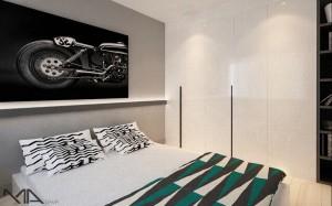 Dla fanów motocykli - sypialnia.