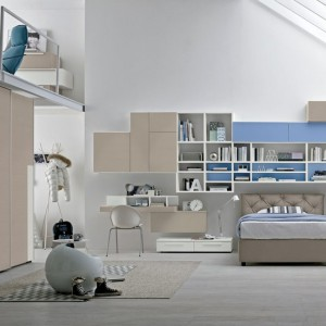 Pomysłowe rozwiązanie - pokój na dwóch poziomach. Fot. Colombini Casa.