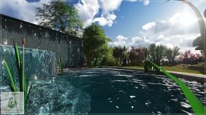 Projekt ogrodu przy domu jednorodzinnym w Dąbrowicy.