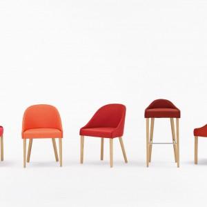 Krzesła LUBI zaprojektowane przez Tomka Rygalika dla marki Paged. Fot. Paged.