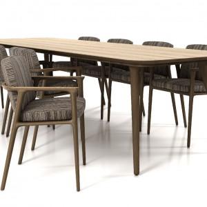 Stół Zio i krzesła zaprojektowane przez Marcela Wandersa to nowość w ofercie marki Moooi. Fot. Moooi.