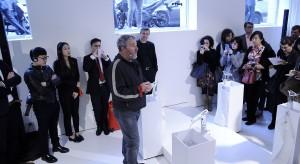 """Przezroczyste baterie umywalkowe ze szkła, które można myć w zmywarce(!), Philippe Starck zaprojektował specjalnie dla marki Axor Hansgrohe. Światowa premiera odbyła się podczas """"Milano Design Week 2014""""."""