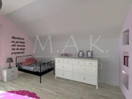 Projekt koncepcyjny pokój dla dziewczynki - Góra Siewierska.