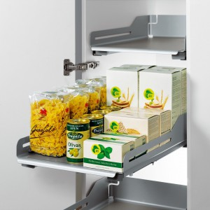 System półek Extendo do szafek kuchennych. Producent: Peka.