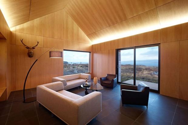 Dom na szkockiej wyspie Skye urządzony w stylu minimalistycznym