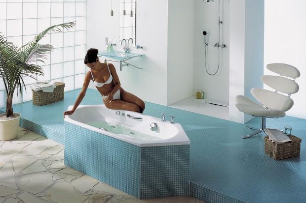 Turkus w łazience – wybieramy płytki, meble, dodatki