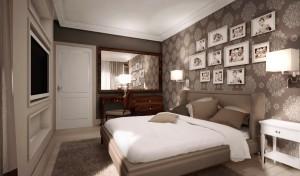 Projekt aranżacji wnętrza mieszkania opartego na klasycznych motywach.Kolorystyka jasna, gdzie uzupełnieniem całości są drewniane dodatki w ciekawej oprawie stylistycznej. Minimalizm połączony z tradycyjnymi elementami.Aranżacja apartamentu do wypoczynku letniego.