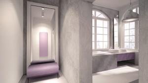 Wytycznymi konkursu było stworzenie aranżacji wnętrza z pokazaniem grzejników firmy VASCO tak aby wtopiły się one we wnętrze. Postanowiliśmy wykorzystać kolor, kształt oraz miejsce osadzenia grzejników dla stworzenia ciekawej aranżacji.