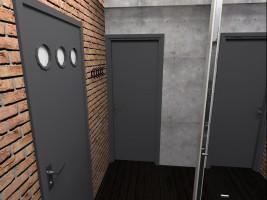 Projekt mieszkania 41m2, styl nowoczesny - korytarz.