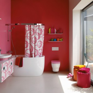 Kolekcja mebli łazienkowych dedykowana do małych pomieszczeń Mimo marki Laufen. Fot. Laufen