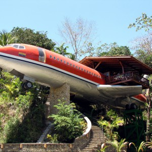 Dom, który powstał z boeinga 727 z 1965 roku. Fot. Hotel Costa Verde, Costaverde.com