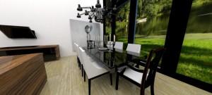 Jadalnia domu położonego na Mazurach realizacja: Zalubska Studio Projektowanie Wnętrz