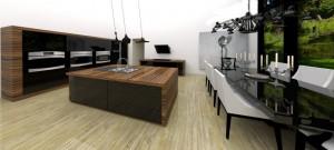 Kuchnia domu położonego na Mazurach realizacja: Zalubska Studio Projektowanie Wnętrz