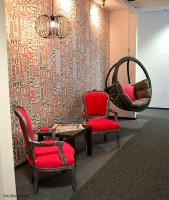 Przestrzeń openspace  dla  domu medialnego  MediaCom w Warszawie - realizacja Zalubska Studio - projektowanie wnętrz