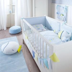 Wyroby tekstylne są delikatne i miękkie w dotyku, dzięki czemu mogą być wykorzystywane w pokoju niemowlaka. Fot. Annette Frank.