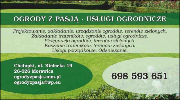 Wizytówka Architekta Ogrody Z Pasją Usługi Ogrodnicze