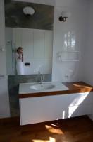 Projekt wnętrz łazienki oraz mebli, dom jednorodzinny Warszawa, architekt wnętrz Marta Dalecka.