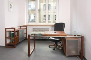Projekt mebli do gabinetu w Kancelarii Radców Prawnych Zdanowicz i Wspólnicy w Warszawie, architekt wnętrz Marta Dalecka.
