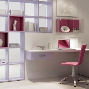 Jeśli biurko nie ma kontenera należy zamontować przy nim półki. Fot. Moretti Compact.