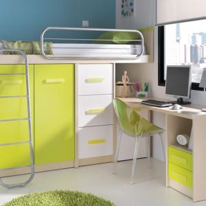 Funkcjonalne rozwiązanie - łóżko umieszczone na szafie. Fot. Circulo Muebles.