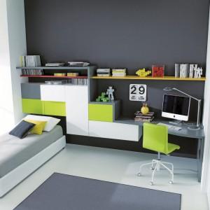Pomysł na aranżację niewielkiego pokoju dla nastolatka. Fot. Dielle.
