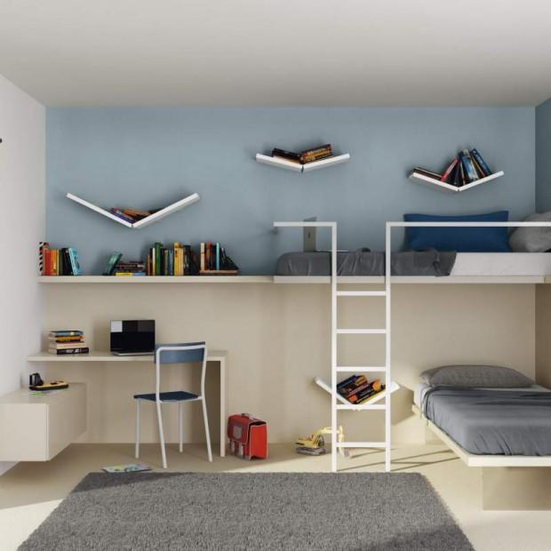 W stylu loft. Minimalistyczny pokój dla nastolatka
