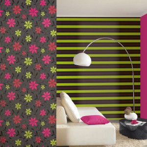 Kolorowa tapeta z kolekcji Wish marki P+S International. Fot. P+S International.