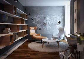 Apartament Suchy Las, gabinet.