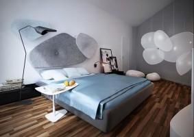 Apartament Suchy Las, sypialnia.
