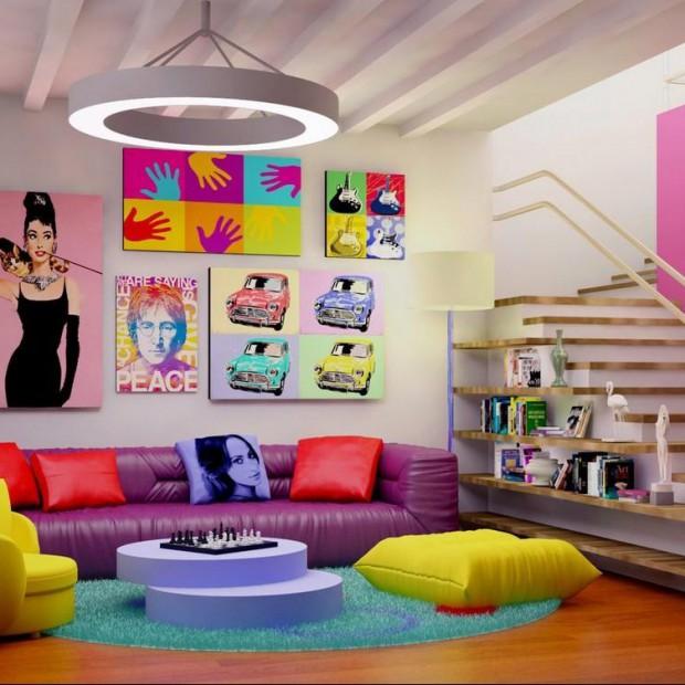 Intensywne kolory w salonie. Zobacz odważne pomysły na aranżację!