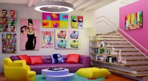 Jaki jest przepis na oryginalny, kolorowy salon? Żółte meble na tle limonkowych ścian lub różowa sofa ustawiona na turkusowym dywanie, ale to nie wszystko. Więcej inspiracji znajdziecie w naszej galerii.