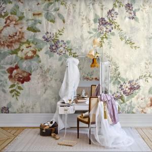 Kwiaty w stylu retro - kolekcja tapet marki Mr Perswall. Fot. Mr Perswall.