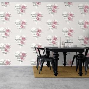 Róża to główny motyw tapety Rose marki Eco Wallpaper. Fot. Eco Wallpaper.