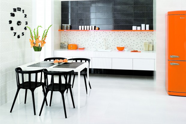 Kuchnia z odrobiną pomarańczy. Zobacz najciekawsze wnętrza