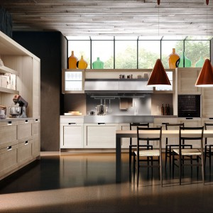 Kuchnia Lux Classic Snaidero oferuje nieograniczone możliwości personalizacji, dzięki połączeniu oryginalnych kolorów i materiałów. Fot. Snaidero.