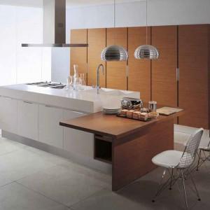 Nowoczesny,minimalistyczny w formie system mebli kuchennych Aera marki Oikos Cucine. Fot. Oikos Cucine.