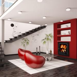 Turbokominek  Profi  przeznaczony do domów jednorodzinnych o powierzchni od 80 do 130 m2, prosta gładka rama oraz srebrna klamka nadają mu stylowego charakteru. Ogrzewa jednocześnie cały dom i wodę użytkową. Od 4.228 zł, Makroterm.