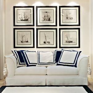 Obrazy przedstawiające marynistyczne motywy będą świetną ozdobą sypialni. Jeśli chcemy,aby we wnętrzu były mocnym akcentem oprawmy je w ciemne ramy.Fot.Fabio Luciani.