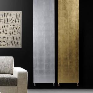 Proste grzejniki Oro Argento w kolorze złota i srebra wzbogacą każdą aranżację. Fot. Brem.