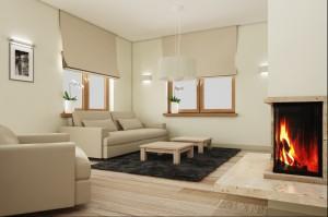 Dom w Mosinie - salon.