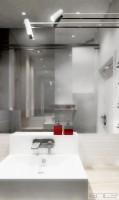 Oryginalne oświetlenie nad umywalką.