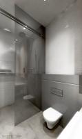 prysznic za szybą