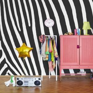 Tapeta z kolekcji Nostalgic marki Mr Perswall inspirowana umaszczeniem zebry. Fot. Mr Perswall.