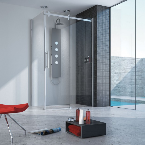 Modnie bez brodzików – kabiny prysznicowe do montażu na posadzce