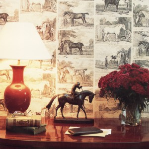 Tapeta Gilpin Horses powinna przypaść do gustu miłośnikom koni. Fot. Lewis and Wood.